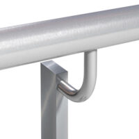 BB3 - Offset handrail (single or double) with radius bracket