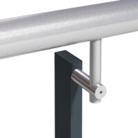 BB4 - Offset handrail (single or double) with slimline barrel bracket