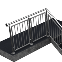 Stainless steel vertical bar panel