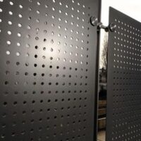 Aluminium powder coated perforated panel (for external applications)