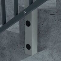 SF5 - Point adjustable side fix with pre-cast sockets