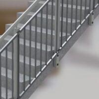 Continuous vertical bar panel